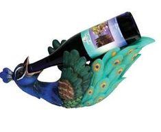 Peacock Wine Bottle Holder  $42.74 www.allthingspeacock.com