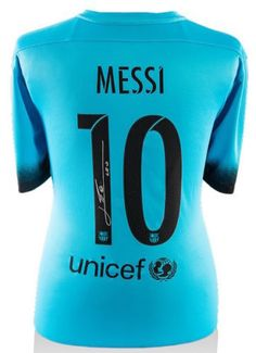 14fc0a5a9 LIONEL LEO MESSI Signed 2015-16 FC Barcelona Third Shirt Jersey ICONS