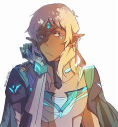 Altean!Lance with long hair