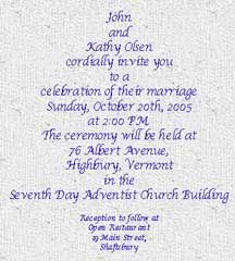 Contemporary Invitation Wording: Bride and Groom Host - Wedding ...
