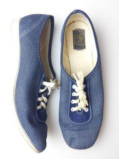 Brunswick Womens Shoes Bowling Vintage Canvas Blue Denim-look #rockabilly  7 M #Brunswick
