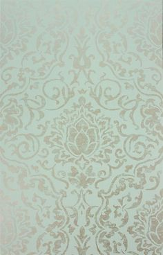 The wallpaper Belem - from Nina Campbell is wallpaper with the dimensions m x 10 m. The wallpaper Belem - belongs to the popular wal Aqua Wallpaper, Wallpaper Stencil, Metallic Wallpaper, Luxury Wallpaper, Wallpaper Backgrounds, Bedroom Wallpaper, Nina Campbell Wallpaper, Aqua Bedrooms, Boho Bedding