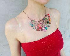 Statement necklace bohemian jewelry gift for by ArtemisFantasy