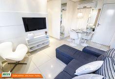 Apartamento decorado 2 quartos do Jardim América no bairro Ernani Sátiro - João Pessoa - PB - MRV Engenharia - Sala de Estar.