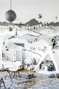 grey kids roomgrey kids room