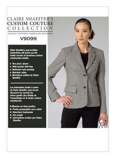 Vogue V9099 Claire Shaeffer two-button blazer
