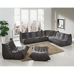 Waverunner Sofa Set in Light Gray