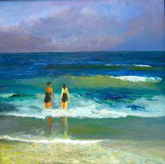 SEASCAPE BEACH ART PRINT The Surf by John Seba 40x20 Ocean Seascape Poster