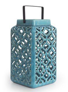 Φανάρι κεραμικό Τυρκουάζ Suitcase, Ceramics, Ceramica, Pottery, Ceramic Art, Clay Crafts, Suitcases, Briefcase, Porcelain
