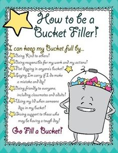Bucket Filling Poster and Nomination Form- Character Educa