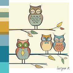 owls rys. Justyna Andrejewicz