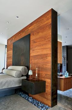 Rich wood wall.  Hufft Projects.                                                                                                                                                                                 More