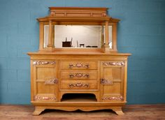 Arts and crafts sideboard with mirror http://www.walcotandco.co.uk/cabinets-and-storage/arts-and-crafts-sideboard-with-mirror-1