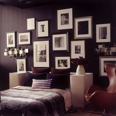 great idea for my bedroom wall - maybe with daddy's photographs!