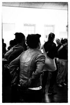 Dancing in De Koepel. Now a place for refugees in Haarlem, Netherlands.