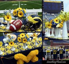 A University of Michigan, football-themed, co-ed wedding shower for the bride and groom.