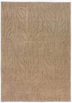 Arboria Sable by Emily Todhunter   Silk Contemporary hand-knotted designer rugs