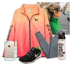 """""""Helping out at our track meet"""" by flroasburn ❤ liked on Polyvore featuring lululemon, NIKE, Tory Burch and Casetify"""