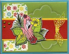 Tropical Flamingo Card & DIY Directions from GreatImpressionsStamps.com