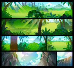 Crazy Arcade animation BGs by DanBee Kim, via Behance