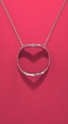 Shadow Heart is innovative silver necklace that elegantly casts a silhouette of the heart symbol. It is a special gift, especially for the one you love or for yourself.