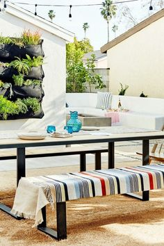 Fashion blogger, Jacey Duprie's modern outdoor space