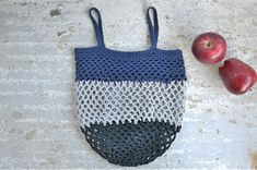 Grocery bag crochet net bag eco shopping bag market bag