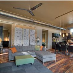 theSAGE: Panoramic of interior spaces with Mixed Hardwoods flooring - contemporary - Living Room - Portland - Pioneer Millworks