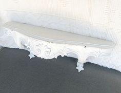 Shabby Chic White Ornate Resin Shelf Upcycled Wall by BeautiSHE, $29.00
