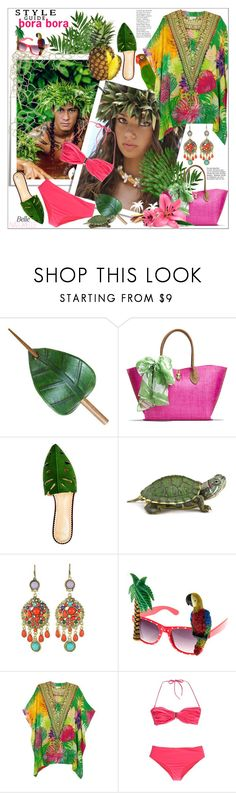 """""""Bora Bora Travel Outfits"""" by frane-x ❤ liked on Polyvore featuring Lilly Pulitzer, Charlotte Olympia, WithChic, Camilla and Thapelo Paris"""