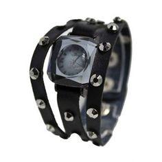 Wrap Watch, Rhinestoned Studded Wrap Snap Watch BLACK Watches, Leather, Stuff To Buy, Ebay, Accessories, Black, Fashion, Moda