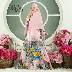 Paris Shari by UMMINA  Material : Dolce gabama A kind of premium maxmara Furing, hand buttoned breastfeeding mothers Waistband Long dress 55.5' Chest circumference 43' Width 3 meter clok dress  Khimar ceruty babydoll with swaroski,Non pet 2 layer #muslimahsyaridress #muslimoutfits #muslimahoutfits #muslimahpartydress