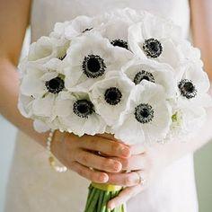 Preto e branco buquê de casamento com as mãos (Maki)