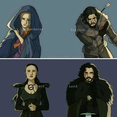 (2/3) Jon and Sansa have spent most of their journey surrounded by strangers, until now.