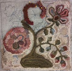 Incredible Standing Wool Work By Martha Lowry Find This Pin And More On Rug Hooking Techniques