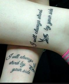 Best Friend Tattoos - Love this!...