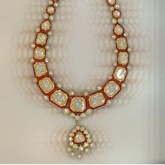 Polki necklace #Indian #Jewellery India Jewelry, Gems Jewelry, Wedding Jewelry, Jewelry Sets, Jewelery, Diamond Jewellery, Silver Jewelry, Wedding Necklace Set, Bollywood Jewelry
