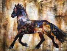 Original Artwork by John & Elli Milan mixed Media and Oil on Canvas Painted Pony, Horse Art, Animal Photography, Art For Sale, Oil On Canvas, Milan, Art Drawings, Original Artwork, Mixed Media