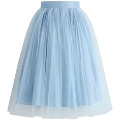 Chicwish Festive Pleated Mesh Tulle Skirt in Powderblue (2,900 MKD) ❤ liked on Polyvore featuring skirts, blue, layered tulle skirt, flared skirt, ballet skirt, tulle ballerina skirt and ballerina skirt