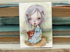 Miniature woodblock...from my original artwork by ppinkydollsart, $10.00