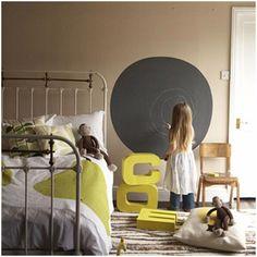 Einrichtungsideen: Tafelfarbe für Kinderzimmerwände