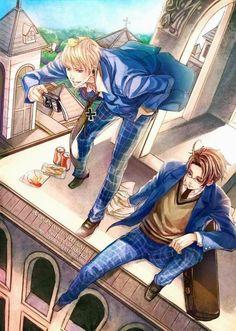 I love Gakuen Hetalia Manga Boy, Manga Anime, Hetalia Germany, Bad Touch Trio, Hetalia Axis Powers, Usuk, Another Anime, Prussia, Beautiful World