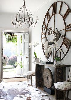 buyuk duvar saatleri eskitme klasik modern dizaynlar duvar dekorasyonunda kullanim sekilleri (1)