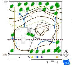 site plan Floor Plan Symbols, Free Floor Plans, Study Site, Contour Line, Orange Line, Time To Move On, Roof Lines, Site Plans, Learn To Read