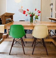 eames - plastic chair. different colours available.