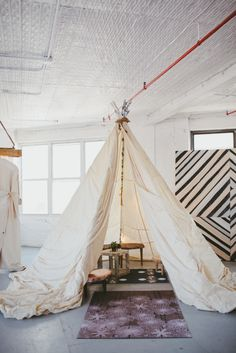 Our beautiful teepee built by the ever so talented Trish of Domestic Construction | Patina