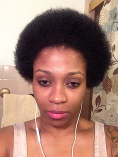 My first blow out. still 10 weeks post big chop