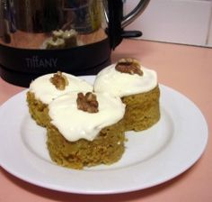 Photo of Carrot Cake in a Mug with Sour Cream Icing  Carbquik in place of flour  Ideal brown in place of brown sugar    It was really good