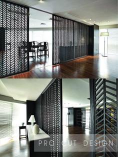 Sliding Door Room Dividers, Sliding Doors, Restaurant Lounge, Desk, House Design, Living Room, Interior, Furniture, Home Decor