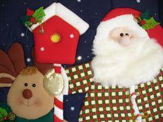 cuadros en patchwork sin aguja - Buscar con Google Christmas Stockings, Christmas Ornaments, Teddy Bear, Holiday Decor, Crafts, Home Decor, 3d, Google, Ideas